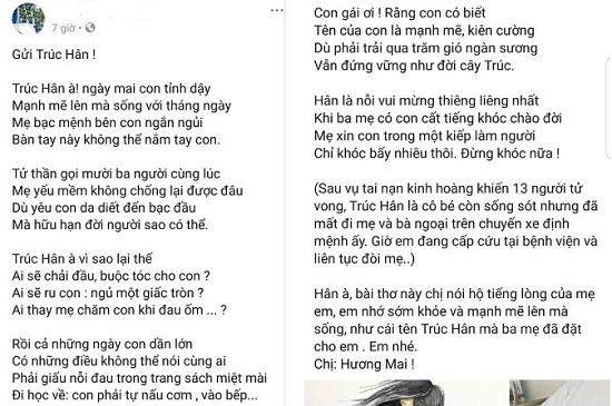 Cô giáo dạy toán làm thơ tặng bé Trúc Hân với lời nhắn đầy nước mắt - Ảnh 1
