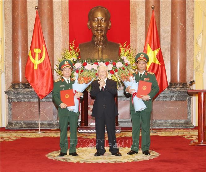 Tổng Bí thư, Chủ tịch nước Nguyễn Phú Trọng dự Lễ trao Quyết định thăng quân hàm Thượng tướng - Ảnh 1