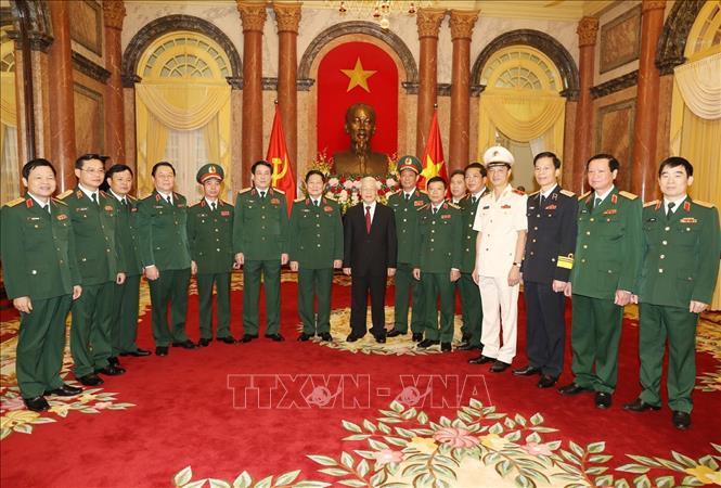 Tổng Bí thư, Chủ tịch nước Nguyễn Phú Trọng dự Lễ trao Quyết định thăng quân hàm Thượng tướng - Ảnh 2