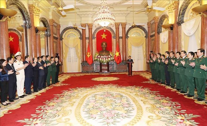 Tổng Bí thư, Chủ tịch nước Nguyễn Phú Trọng dự Lễ trao Quyết định thăng quân hàm Thượng tướng - Ảnh 3