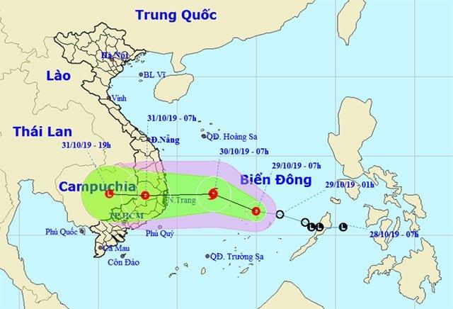 Cảnh báo áp thấp nhiệt đới mạnh lên thành bão, hướng vào Bình Định- Ninh Thuận - Ảnh 1