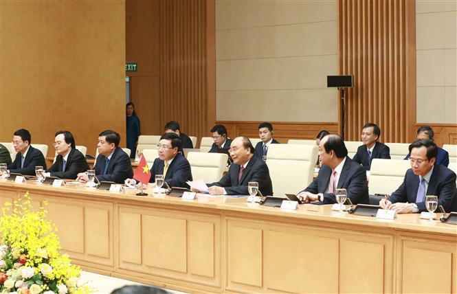 Thủ tướng Nguyễn Xuân Phúc và Thủ tướng Campuchia hội đàm và chứng kiến Lễ ký các văn kiện hợp tác - Ảnh 5