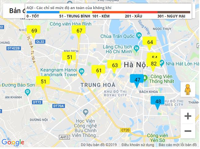 """Sau trận mưa nặng hạt, """"màu xanh"""" xuất hiện trên bản đồ quan trắc không khí tại Hà Nội - Ảnh 3"""