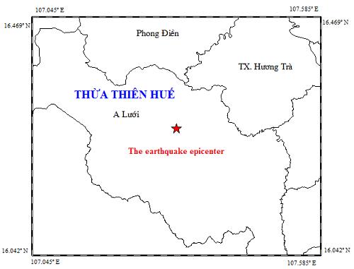 Xảy ra động đất 3,3 độ Richter ở Thừa Thiên Huế - Ảnh 1