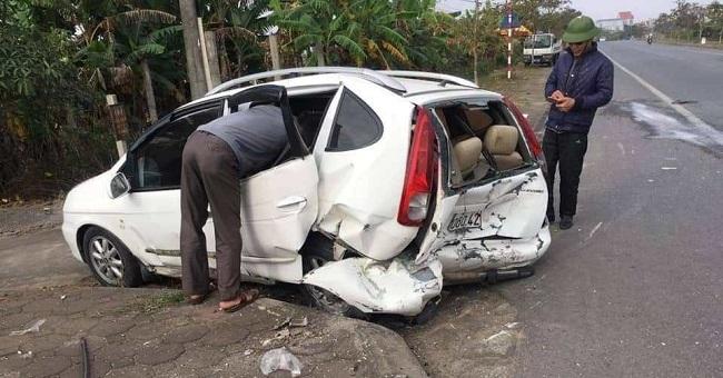 Thái Bình: Ô tô phanh gấp gây tai nạn khiến 1 người tử vong - Ảnh 1