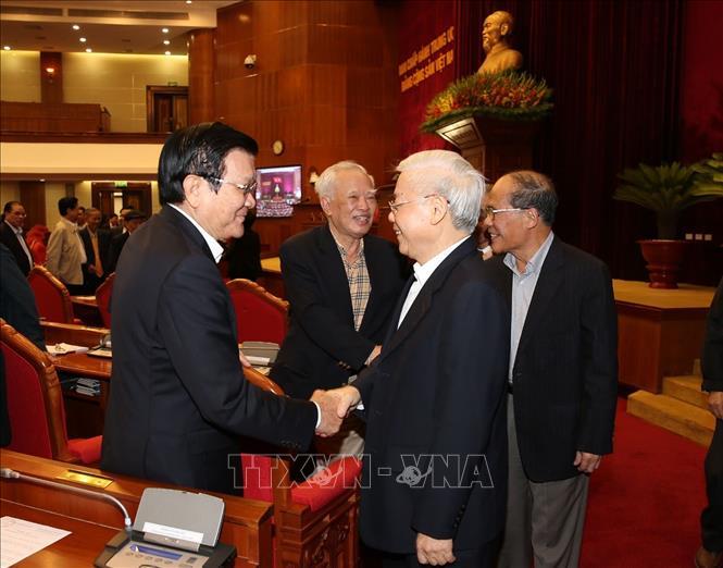 Tổng Bí thư, Chủ tịch nước Nguyễn Phú Trọng chủ trì Hội nghị gặp mặt cán bộ lãnh đạo cấp cao nghỉ hưu - Ảnh 3