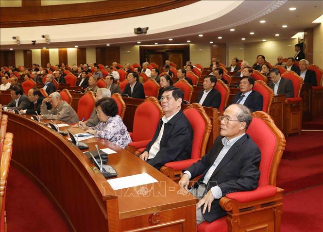 Tổng Bí thư, Chủ tịch nước Nguyễn Phú Trọng chủ trì Hội nghị gặp mặt cán bộ lãnh đạo cấp cao nghỉ hưu - Ảnh 7