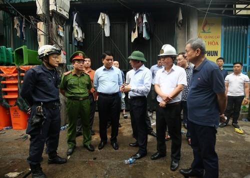 Phó Thủ tướng yêu cầu điều tra, làm rõ nguyên nhân vụ cháy khiến 8 người tử vong ở Hà Nội - Ảnh 1