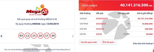 Kết quả xổ số Vietlott hôm nay 14/4/2019: Giải Jackpot hơn 40 tỷ đồng có 'nổ' lớn? - Ảnh 1