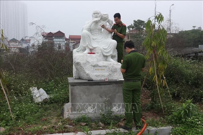 Hà Nội: Điều tra vụ 16 pho tượng La Hán tại chùa Khánh Long bị đập phá - Ảnh 2