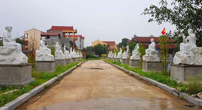 Hà Nội: Điều tra vụ 16 pho tượng La Hán tại chùa Khánh Long bị đập phá - Ảnh 1