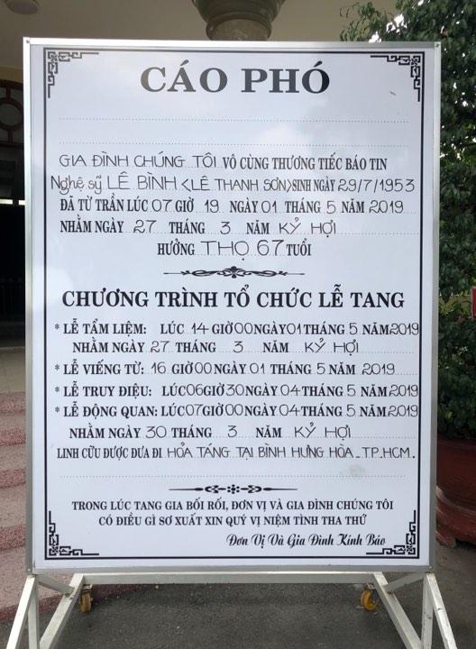 Sao Việt khóc nức nở trong đám tang cố nghệ sĩ Lê Bình - Ảnh 2