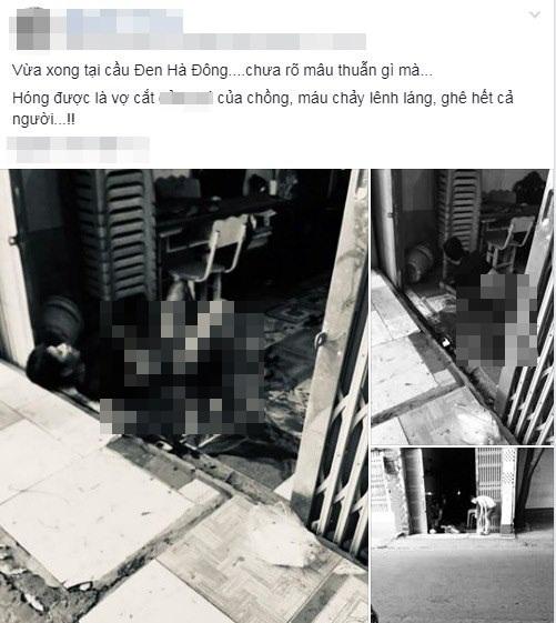"""Thực hư thông tin người đàn ông nằm trên vũng máu do bị vợ cắt """"của quý"""" ở Hà Nội - Ảnh 1"""