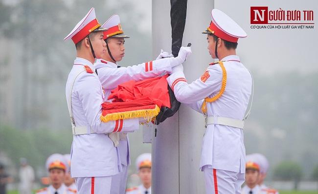 Lễ thượng cờ rủ Quốc tang nguyên Chủ tịch nước Lê Đức Anh - Ảnh 6