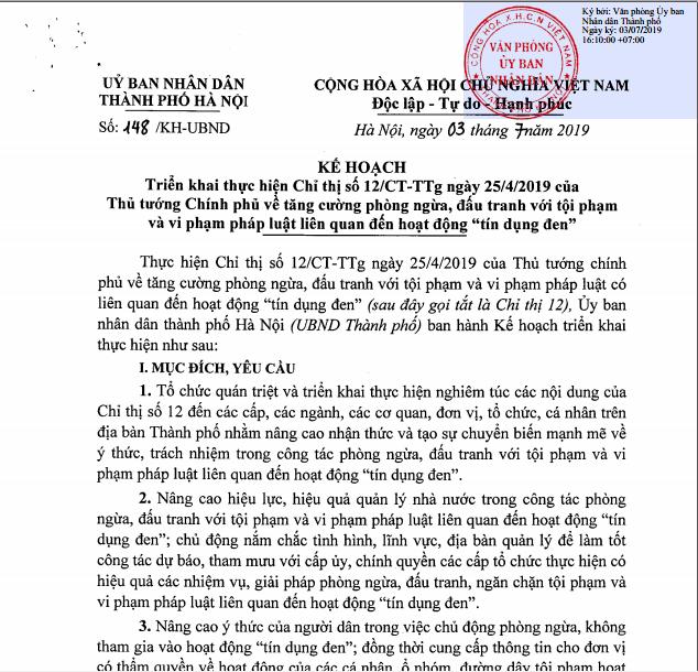"""Hà Nội: Nghiêm cấm cán bộ tham gia hoạt động góp vốn, tiếp tay cho """"tín dụng đen"""" - Ảnh 1"""