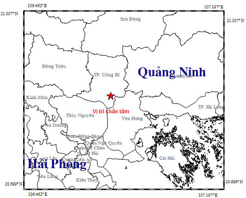 Xảy ra động đất 3,2 độ richter tại Quảng Ninh - Ảnh 1