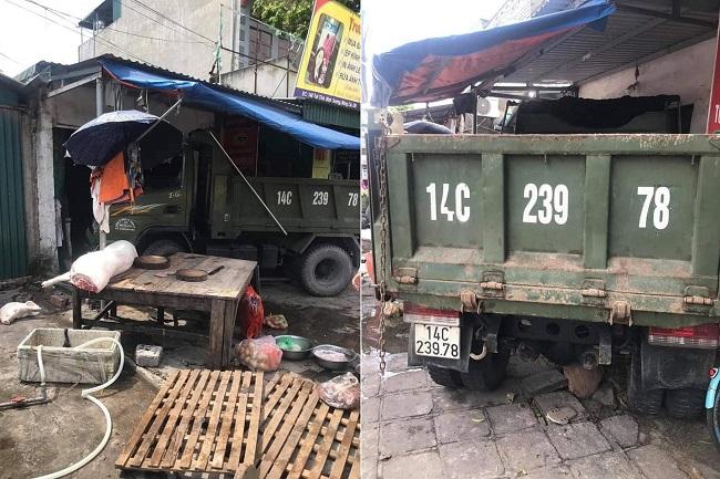 Quảng Ninh: Xe tải mất lái lao lên vỉa hè tông 3 người thương vong - Ảnh 1