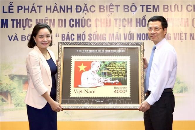 Phát hành bộ tem '50 năm thực hiện Di chúc Chủ tịch Hồ Chí Minh (1969-2019)' - Ảnh 2