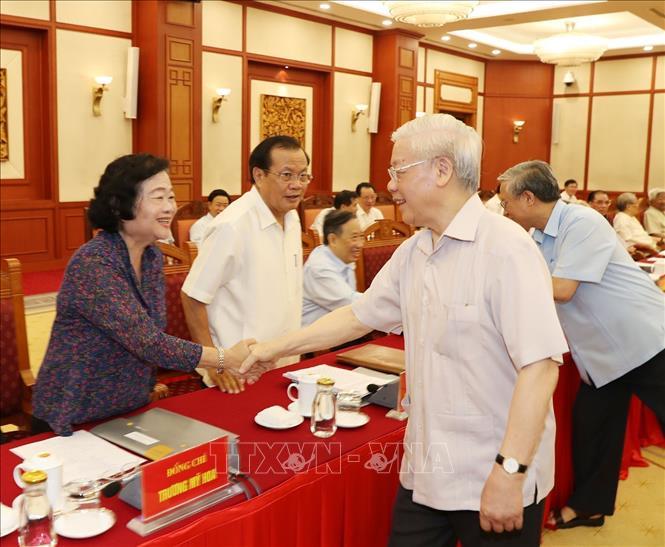 Hội nghị lấy ý kiến nguyên lãnh đạo Đảng, Nhà nước về các dự thảo Báo cáo trình Đại hội XIII của Đảng - Ảnh 2