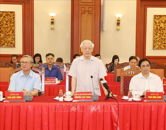 Hội nghị lấy ý kiến nguyên lãnh đạo Đảng, Nhà nước về các dự thảo Báo cáo trình Đại hội XIII của Đảng - Ảnh 3