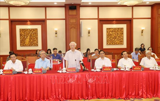 Hội nghị lấy ý kiến nguyên lãnh đạo Đảng, Nhà nước về các dự thảo Báo cáo trình Đại hội XIII của Đảng - Ảnh 4