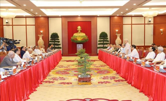 Hội nghị lấy ý kiến nguyên lãnh đạo Đảng, Nhà nước về các dự thảo Báo cáo trình Đại hội XIII của Đảng - Ảnh 5