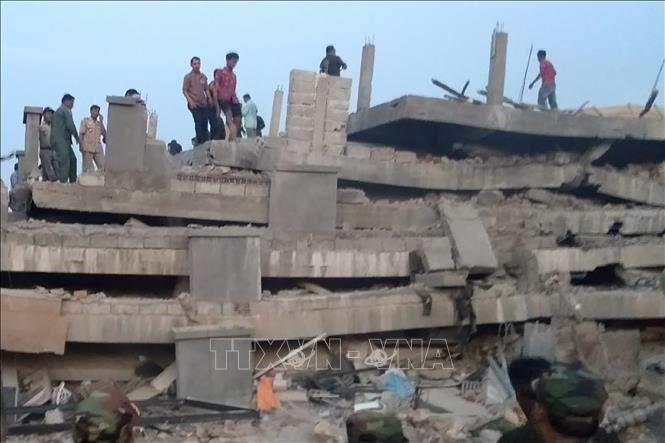 Vụ sập tòa nhà 7 tầng ở Campuchia, 25 người thương vong: Chưa phát hiện nạn nhân gốc Việt - Ảnh 2