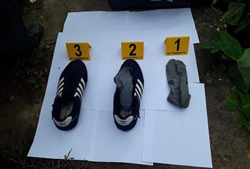 Vụ vợ chồng bị sát hại ở Hưng Yên: Tìm thấy giày, tất của nghi phạm - Ảnh 1