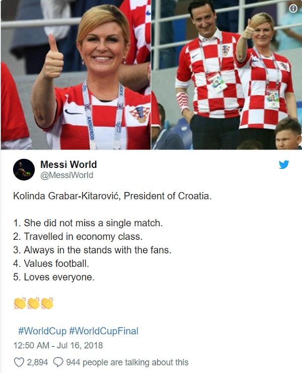 """Nữ tổng thống Croatia giành """"bàn thắng quyết định"""" trên cuộc đua quảng bá hình ảnh - Ảnh 2"""