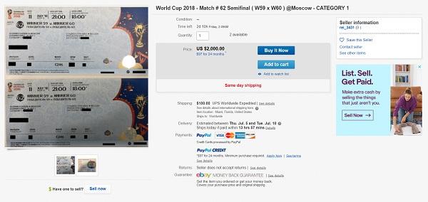"""Vào vòng 8, giá vé chợ đen World Cup cao gấp 40 lần vẫn """"đắt như tôm tươi"""" - Ảnh 2"""