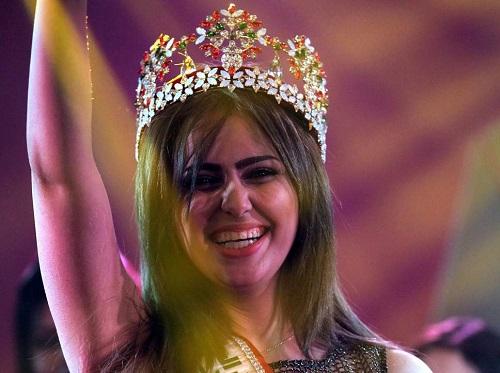 Hoa hậu Iraq chạy trốn khỏi đất nước vì bị khủng bố IS dọa giết - Ảnh 1