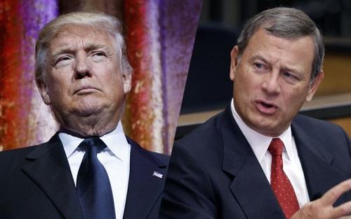Tổng thống Trump khẩu chiến với Chánh án Tòa án Tối cao Mỹ vì bất đồng - Ảnh 1