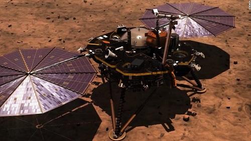 Sau '7 phút kinh hoàng', tàu thăm dò InSight của NASA đã hạ cánh xuống bề mặt sao Hỏa - Ảnh 1