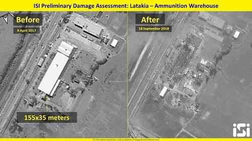 Israel công bố ảnh vệ tinh san phẳng kho vũ khí của Syria - Ảnh 1