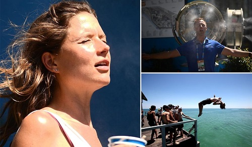 Người Úc vật lộn với nắng nóng 49 độ C ngay dịp đầu năm mới - Ảnh 1