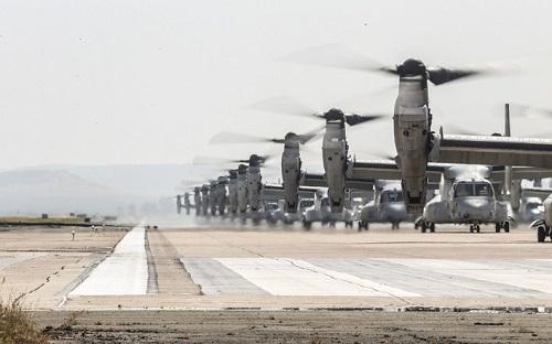 43 trực thăng quân sự Mỹ phô diễn sức mạnh trong cuộc tập trận 'Voi đi bộ' - Ảnh 4