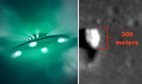 NASA làm lộ hình ảnh UFO khổng lồ dài 300 mét trong miệng núi lửa trên Mặt trăng? - Ảnh 1