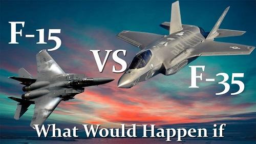 So sánh sức mạnh tiêm kích 'đại bàng' F-15 với 'tia chớp' F-35 - Ảnh 1