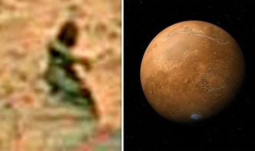 Sự sống trên sao Hỏa: Thợ săn UFO phát hiện bức tượng trên hành tinh Đỏ? - Ảnh 1
