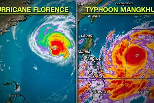 Sức mạnh của siêu bão Mangkhut nhìn từ vệ tinh - Ảnh 2