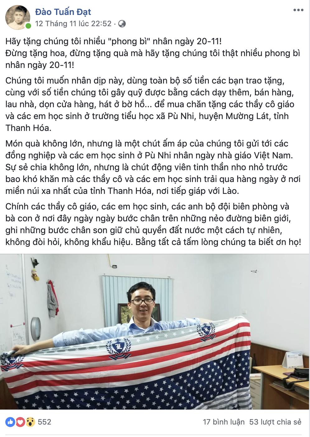 Ngày Nhà giáo Việt Nam  20/11: Giáo viên, hoa tươi và phong bì… - Ảnh 1