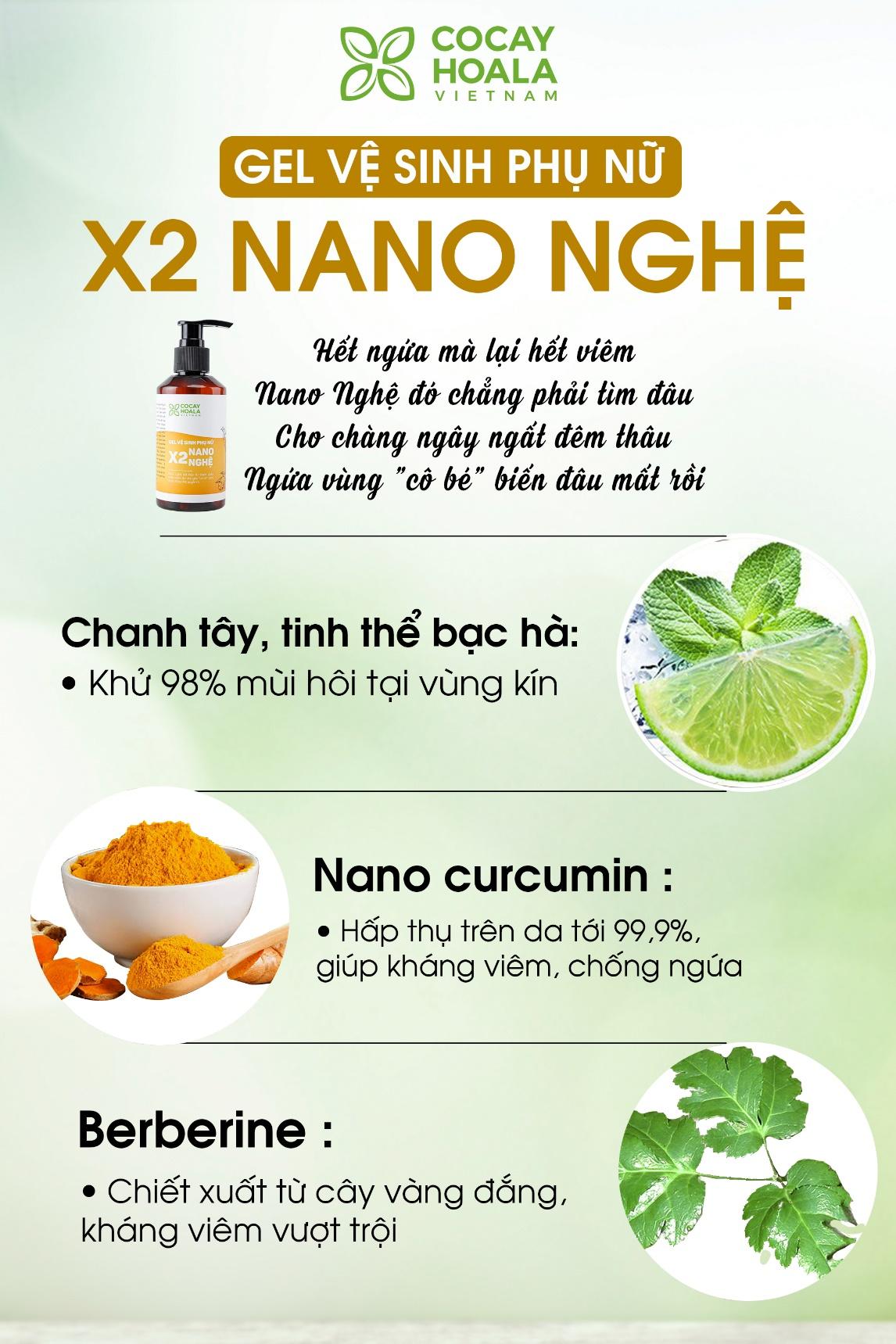 Tại sao Gel vệ sinh phụ nữ X2 Nano Nghệ lại giúp trẻ hóa vùng kín, hết ngứa, hết mùi hôi? - Ảnh 3