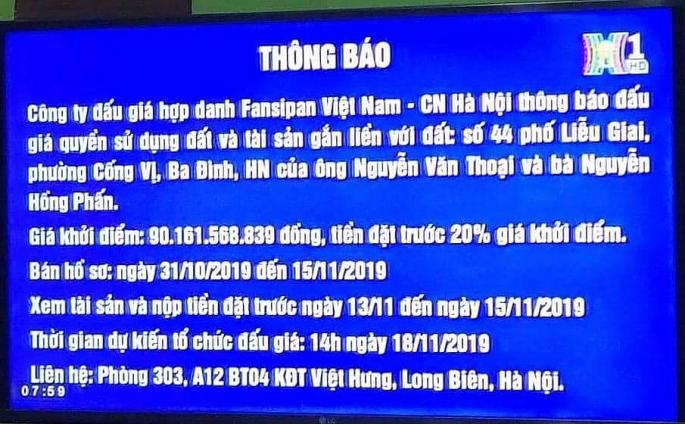Chi nhánh Cty CP đấu giá hợp danh Fansipan Việt Nam liên tiếp vi phạm luật - Ảnh 1