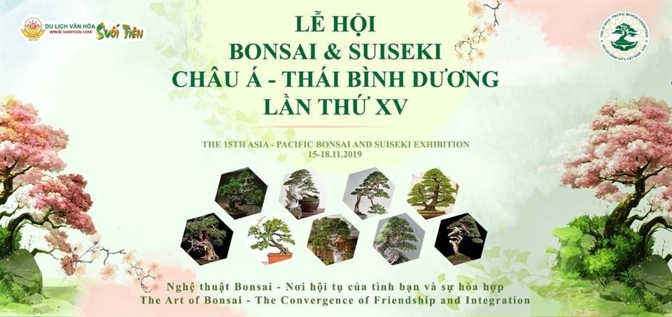 Lễ hội Bonsai và Suiseki Châu Á Thái Bình Dương lần thứ 15 được diễn ra tại Công viên Suối Tiên - Ảnh 2