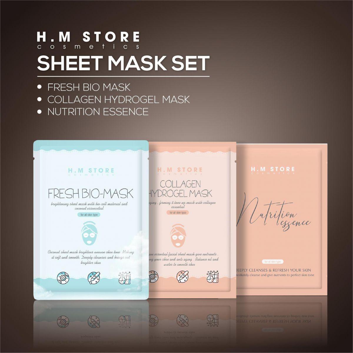 HM Store ra mắt dòng sản phẩm mặt nạ mới Sheet Mask Set - Ảnh 1