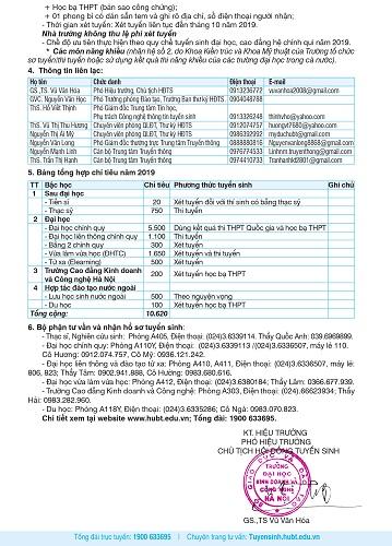 Trường Đại học Kinh doanh và Công nghệ Hà Nội thông báo tuyển sinh năm 2019 - Ảnh 4