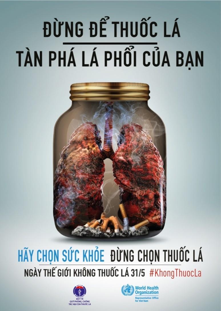 Hút thuốc là hành vi tự hủy hoại sức khỏe và gây ô nhiễm môi trường sống trong lành - Ảnh 1