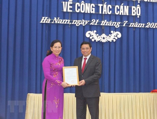 Đồng chí Lê Thị Thủy giữ chức Bí thư Tỉnh ủy Hà Nam - Ảnh 1