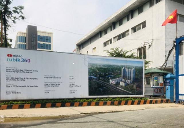 Hà Nội: Dự án 122-124 đường Xuân Thủy, quận Cầu Giấy đang triển khai xây dựng   - Ảnh 1