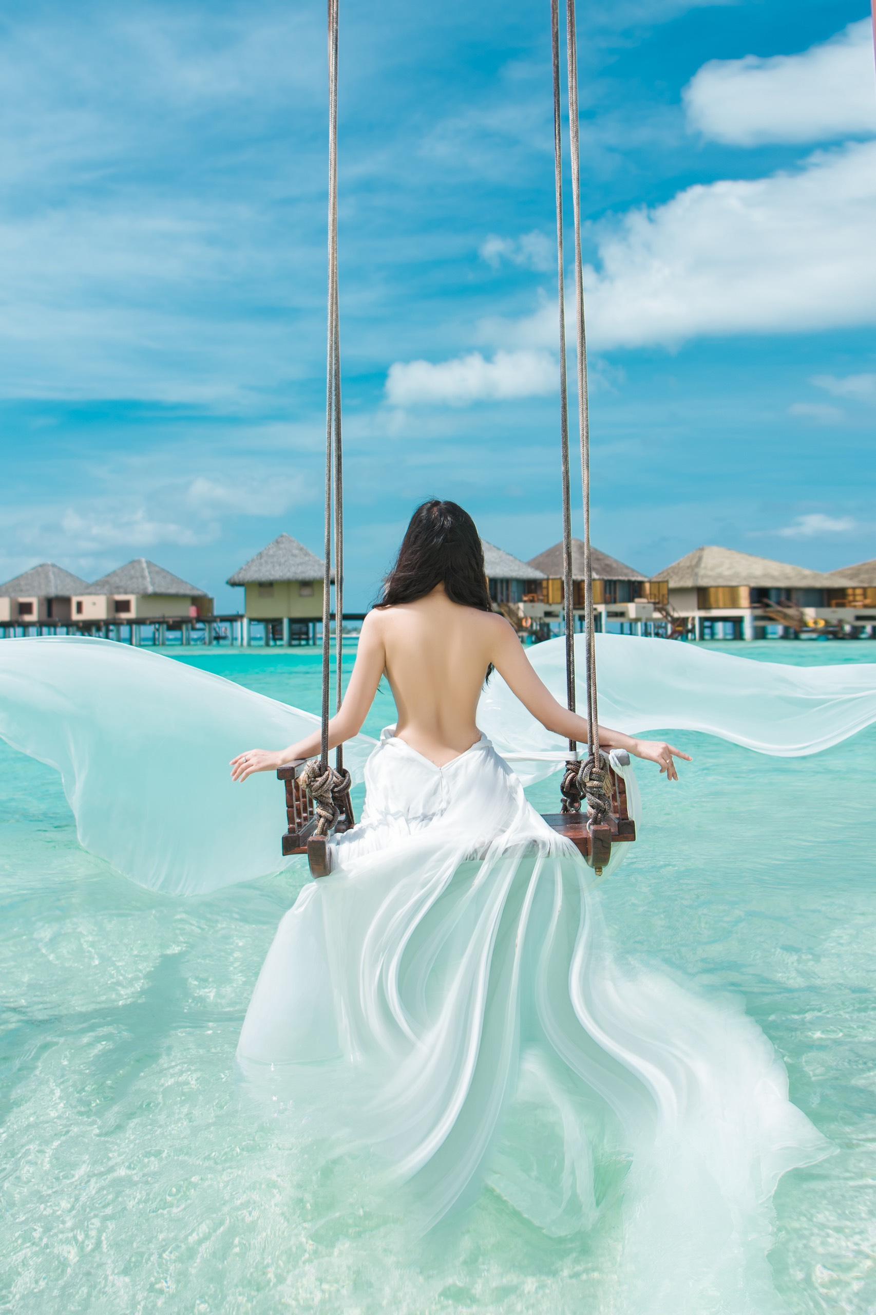 CEO Trần Huyền Nhung chịu chi 3000 usd một đêm tại Resort Maldives - Ảnh 1